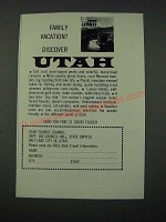 1964 Utah Tourism Ad - Family Vacation?