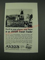 1964 Avion Travel Trailer Ad - Thrill to New Places, New Faces