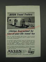 1964 Avion Travel Trailer Ad - Time-of-Your-Life Travel Fun