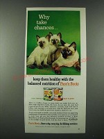 1963 Puss'n Boots Cat Food Ad - Why Take Chances