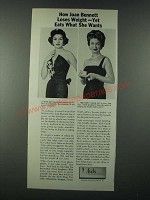 1963 Ayds Weight Loss Ad - Joan Bennett - Eats What She Wants