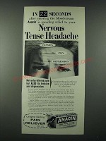 1963 Anacin Pain Reliever Ad - In 22 Seconds