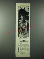 1963 American Cancer Society Ad - Becky Dufford Got Her Future Back