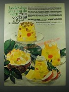1963 Royal Gelatin Ad - Look What You Can Do With Fruit Cocktail