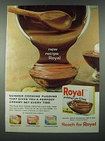 1963 Royal Pudding Ad - New Recipe Royal