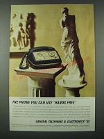 1963 GT&E Telephone Ad - The Phone You Can Use Hands Free