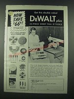 1962 DeWalt Power Shop Tools Ad - Get This Double Value
