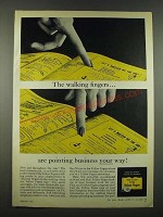 1962 Yellow Pages Ad - The Walking Fingers are Pointing Business