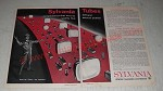 1962 Sylvania Silver Screen 85 Picture Tubes and Receiving Tubes Ad