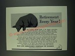 1961 Sun Life Assurance Ad - Retirement Every Year!