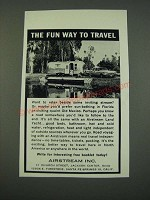 1961 Airstream Travel Trailer Ad - The Fun Way to Travel
