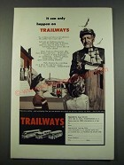 1960 Trailways Bus Ad - It Can Only Happen on Trailways