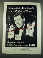 1960 Kent Cigarettes Ad - Satisfies Your Appetite