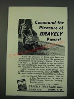 1960 Gravely Tractor Ad - Command the Pleasure of Gravely power