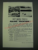 1956 Maine Tourism Ad - Get Both Take a Maine Vacation