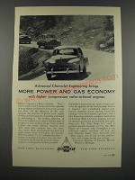 1954 Chevrolet Cars Ad - More Power and Gas Economy