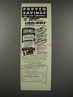 1954 Moly Motor Products Liqui-Moly Anti-Friction Engine Plating Ad