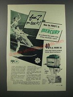 1954 Mercury Mark 50 Outboard Motor Ad - Fun? You Know It!