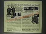 1954 Dive-Craft Diving Lungs Ad - Open-Circuit Type and Re-Breather Type