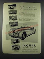 1952 Jaguar XK Super Sports Car Ad - The Fastest Production Sports Car