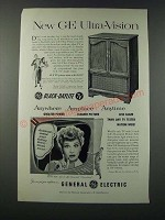 1952 General Electric 21C206 American Provincial Television Ad - Lucille Ball