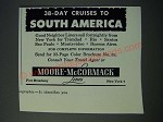 1952 Moore-McCormack Lines Cruise Ad - South America