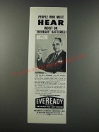 1949 Eveready Batteries Ad - Insist on Eveready Batteries