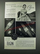 1949 Elgin Watches Ad - Anniversary Present for Mrs. William M. Miller