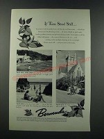 1949 Bermuda Tourism Ad - If Time Stood Still