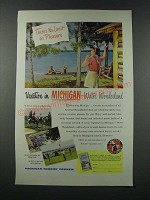1949 Michigan Tourism Ad - There's No Limit on Pleasure