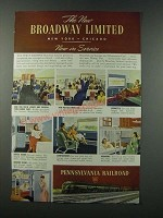 1949 Pennsylvania Railroad Ad - The New Broadway Limited