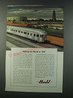 1949 Budd Company Ad - Helping the World to Go