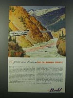 1949 Budd Company California Zephyr Train Ad