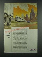 1949 Budd Company Ad - All Around You