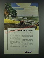1949 Budd Company Ad - Why Do People Wave at Trains?