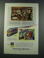 1949 GM General Motors Electro-Motive Locomotive Ad - Chicago & Eastern Illinois