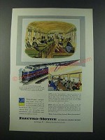 1949 GM General Motors Electro-Motive Locomotive Ad - Baltimore & Ohio