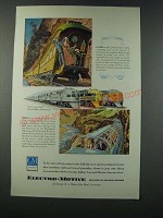 1949 GM General Motors Electro-Motive California Zephyr Trains Ad