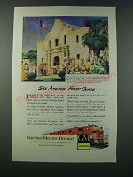 1949 GM General Motors Electro-Motive Locomotive Ad - Frisco and Katy lines