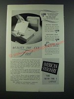 1949 American Stationery Ad - Quality You Can Feel