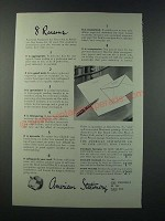1949 American Stationery Ad - 8 Reasons