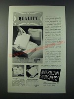 1949 American Stationery Ad - Quality
