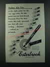 1949 Esterbrook Fountain Pen Ad - Follow This Line
