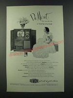 1949 Du Mont Colony Television Ad - The Yardstick of Television