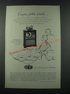 1949 Du Mont Sussex Television Ad - Compare Picture Quality