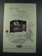 1949 Du Mont Bradford Television Ad - Life-Size Television