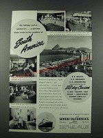 1949 Moore-McCormack Lines Cruise Ad - South America