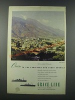 1949 Grace Line Cruise Ad - Cruise to the Caribbean and South America