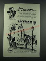 1949 Air France Ad - France Herself Greets You When You Enter This Magic Doorway