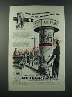 1949 Air France Ad - Behind This Magic Doorway